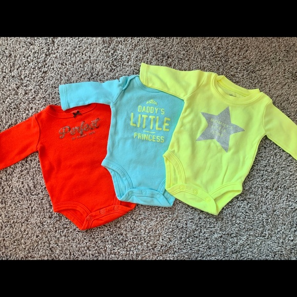 Carter's Other - 3 Long-sleeved Onesies